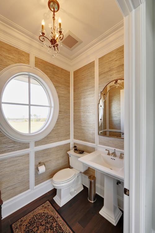 Superior Grasscloth In Bathroom