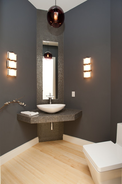 Powder Room - Contemporary - Powder Room - other metro - by Eddy Homes