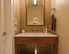 small bathroom design in former closet by Bay Area remodeling contractor contemporary-powder-room