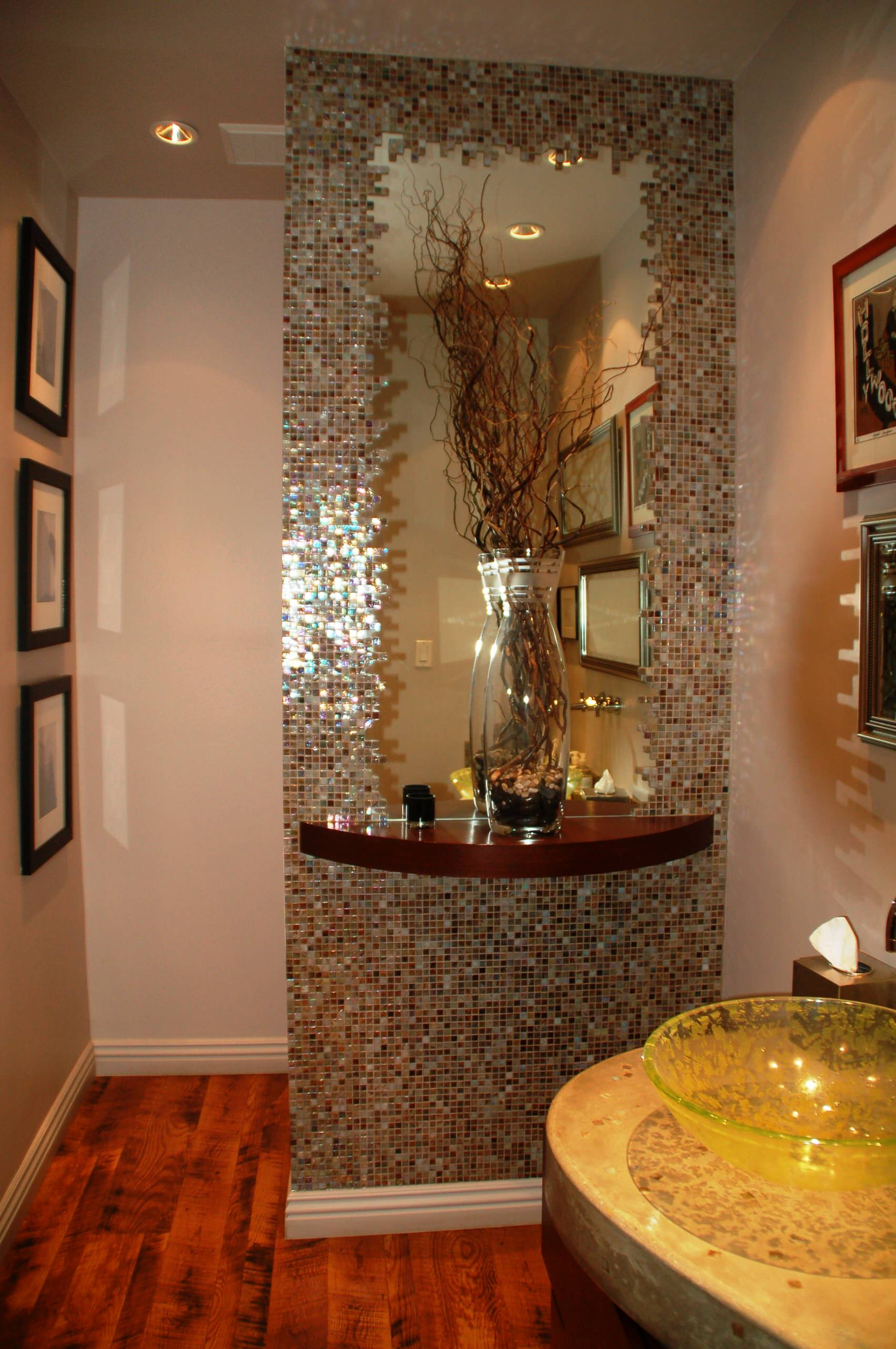 Powder room industrial meets chic