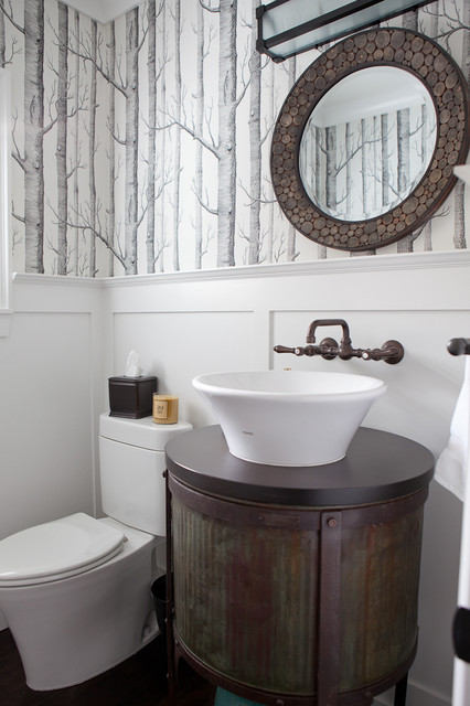 Powder Room Industrial Powder Room Portland By