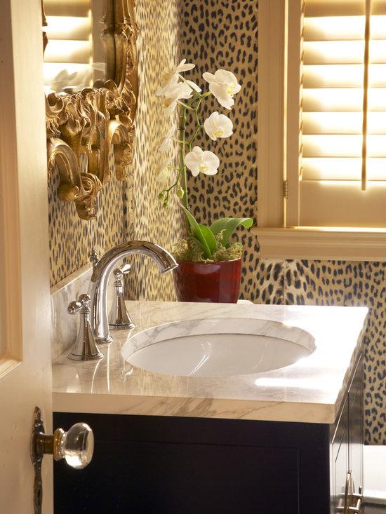 Animal print wallpaper home design ideas pictures for Cheetah bathroom ideas