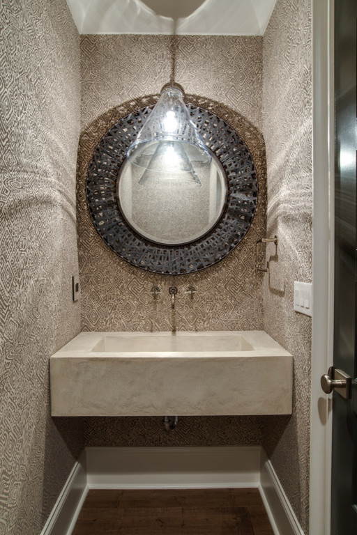 Example of a powder room design in Charlotte