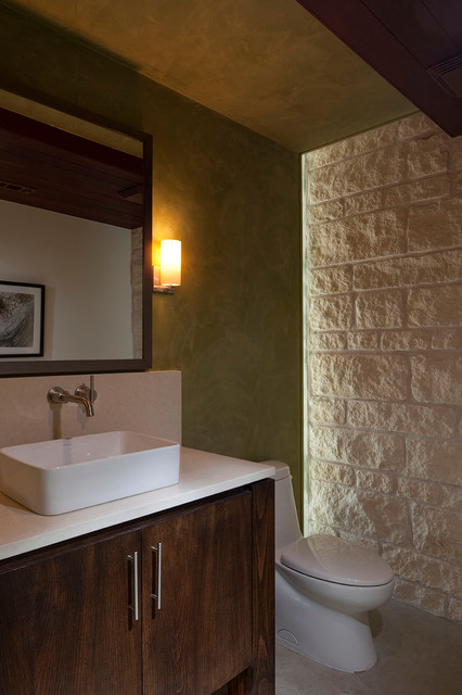 Private Residence, Wimberley contemporary-powder-room