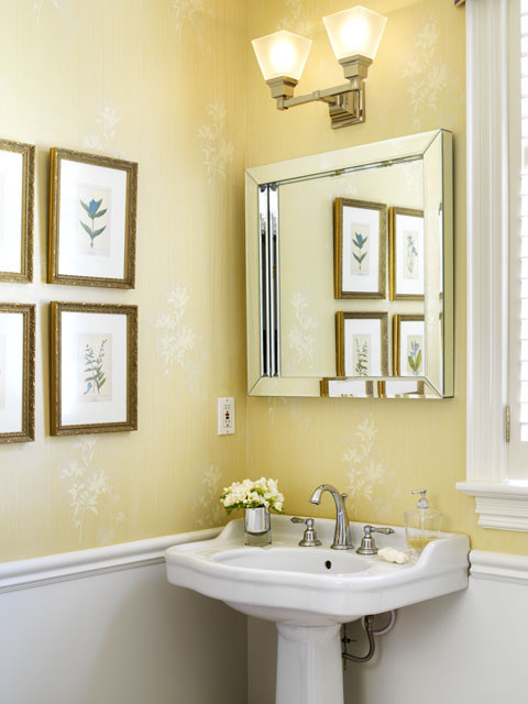 C b i d home decor and design the powder room small spaces with big impact - Best paint colors for small spaces gallery ...