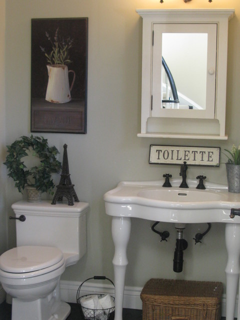 Powder room for French bathroom decor