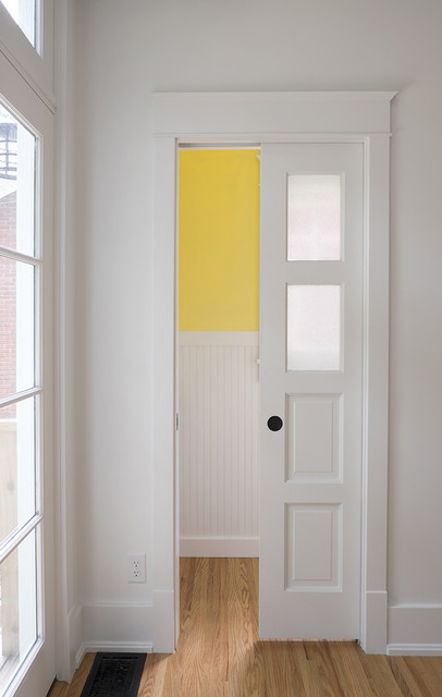 Famous Powder Room Pocket Door - Traditional - Powder Room - Louisville  GY02