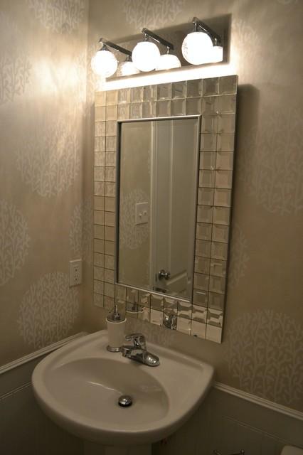 Powder Room Re Design On A Budget Contemporary