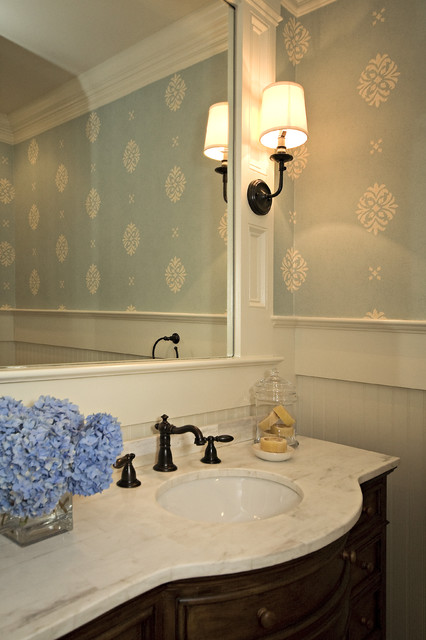 Powder Room Traditional Powder Room Raleigh By