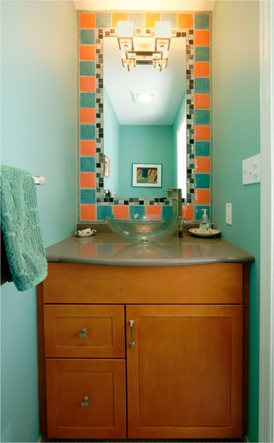Powder Room Remodel Contemporary Cloakroom Philadelphia By Lydia Bogle Morris Black