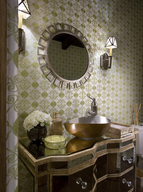 Powder Room mediterranean powder room