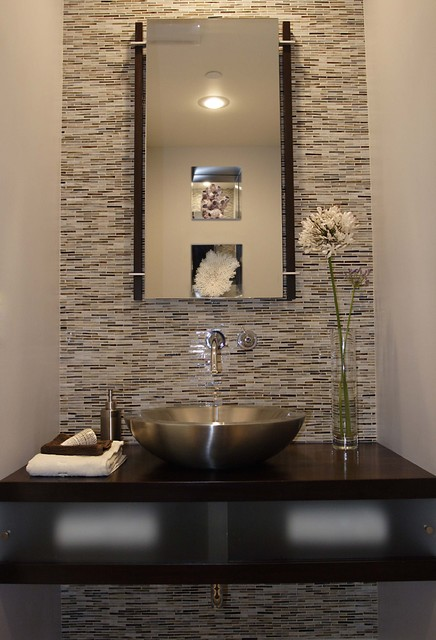powder room modern powder room - Powder Room Design Ideas