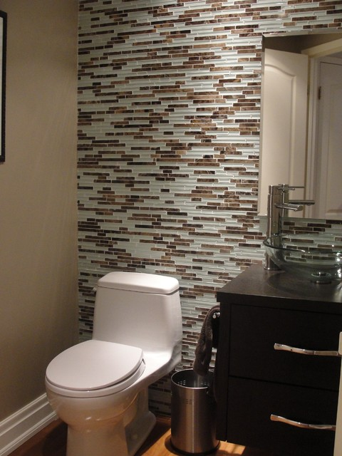 Powder room contemporary powder room toronto by - Powder room tile ideas ...