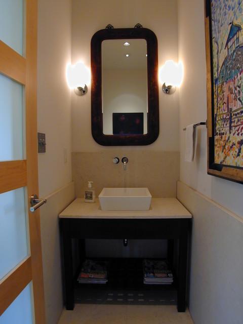 powder room vanity. Black Bedroom Furniture Sets. Home Design Ideas