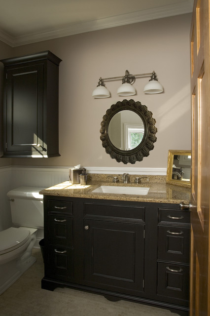 Powder room vanity traditional powder room chicago for Powder bathroom vanities