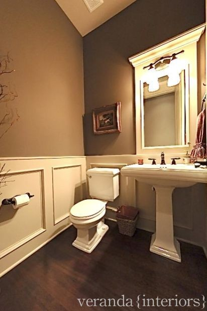 Powder room - Bathroom remodel ideas with wainscoting ...