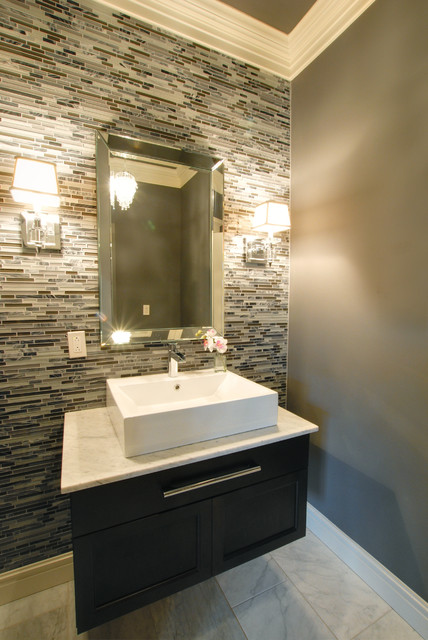 Powder Room Contemporary Powder Room Other Metro