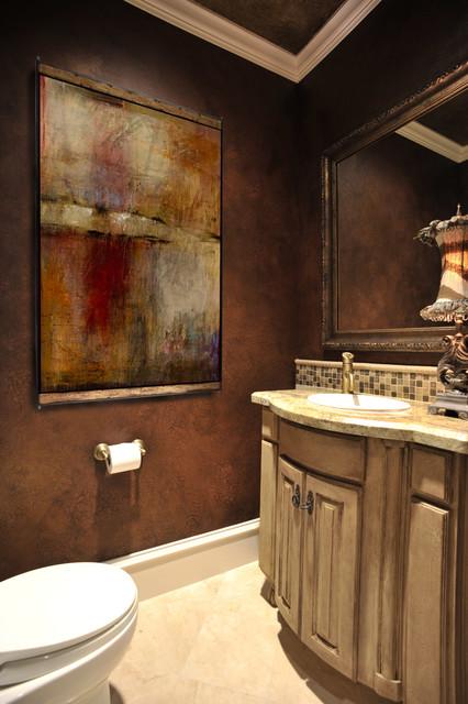 Powder rooms mediterranean powder room houston by for Bathroom designs houston