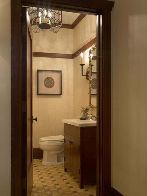 Presidio Heights Pueblo Revival - Powder traditional-powder-room