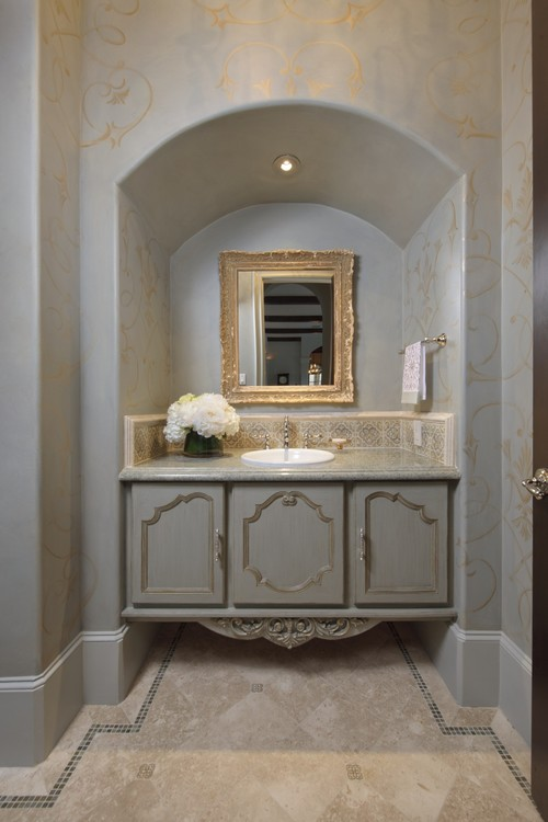 Pretty Powder mediterranean powder room