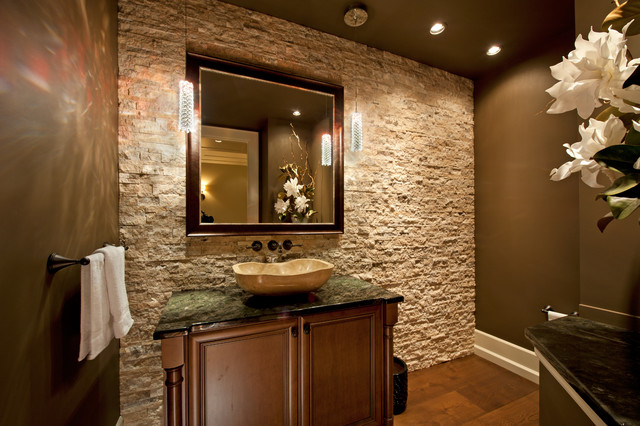 Private Residence traditional-powder-room