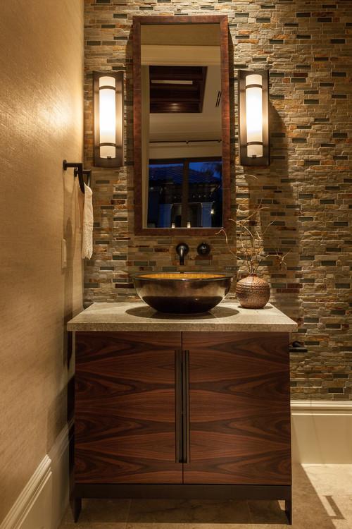 手洗いボウルをお洒落なデザインに替えてホテルライクな洗面所にしてみ