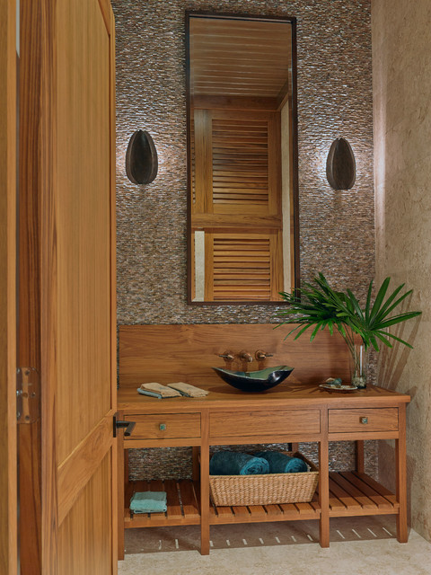 Private Residence - Ocean Reef - Key Largo, FL - Tropical - Powder Room - Miami - by Ruffino ...