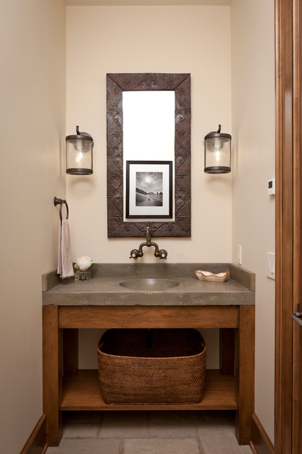 Projects rustic powder room other metro by snake river