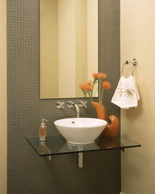 Promenade Lofts - hall bath contemporary-powder-room
