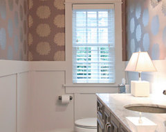 Puritan Avenue traditional powder room