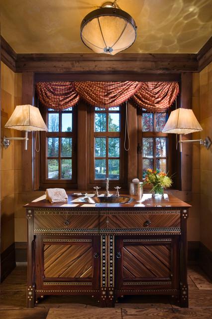 Quiet Waters Residence rustic-powder-room