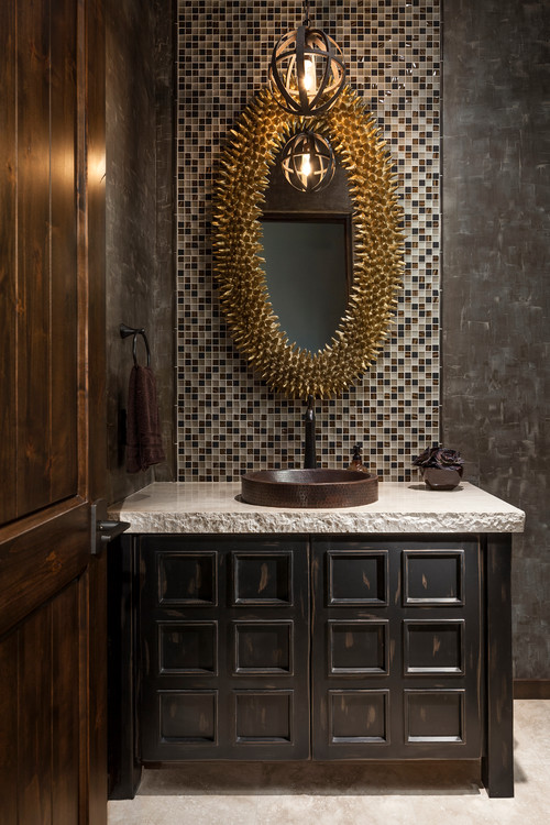 Now this is a small bathroom made bold!