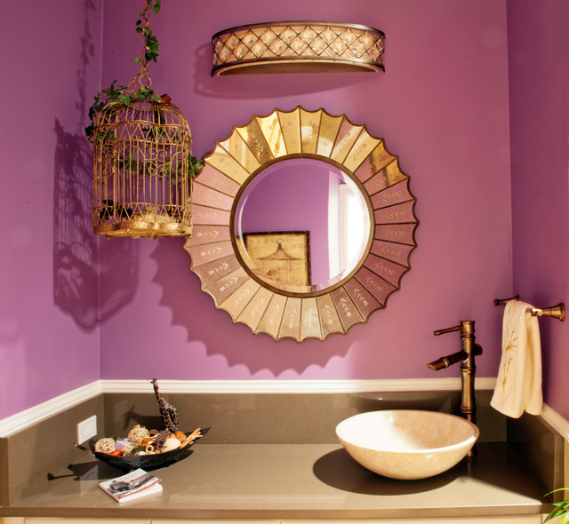 redu interior design projects eclectic powder room