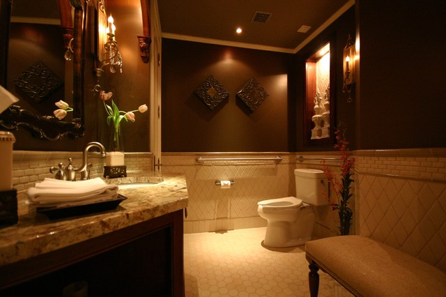 REGAL POWER ROOM traditional powder room