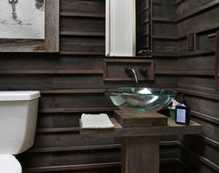 River House rustic-powder-room