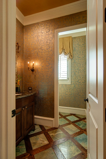 Rivercrest Traditional Powder Room Dallas By