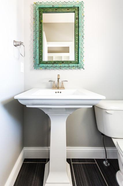 Riverton mahomet contemporary powder room chicago for Bathroom decor riverton