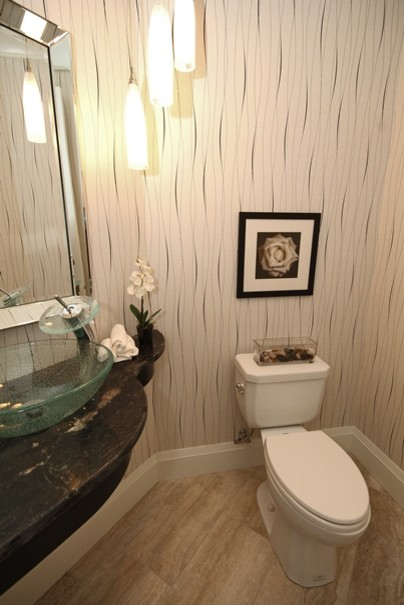Rose Gardens contemporary-powder-room
