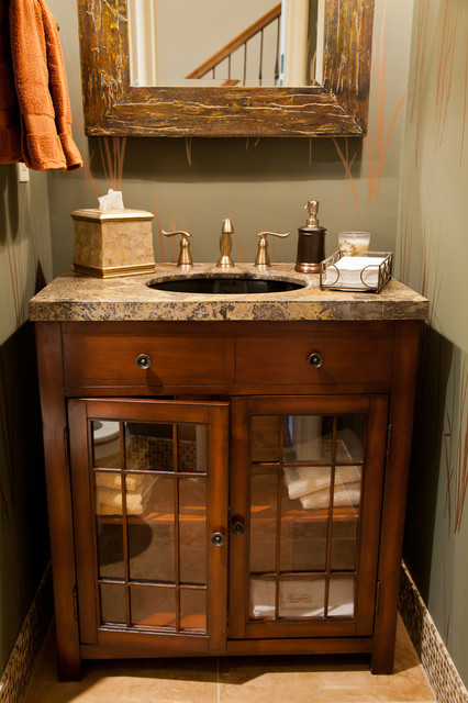 Rustic Half Bath Farmhouse Powder Room