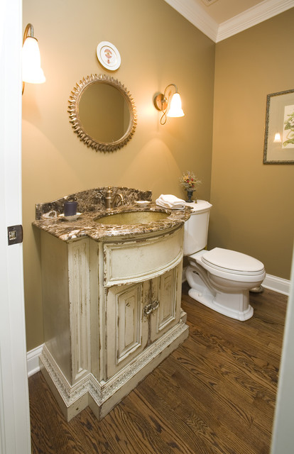 Rustic Powder Room traditional powder room