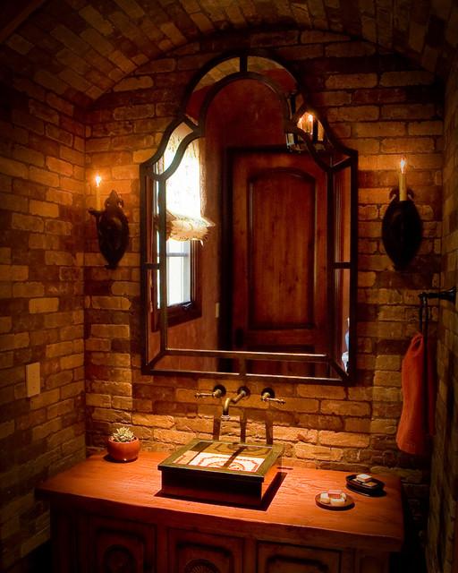 Bloombety Houzz Bathrooms With Floor Mat Houzz Bathrooms: Rustic Powder Room