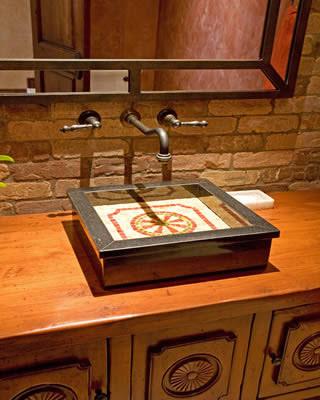 Rustic Powder room traditional-powder-room
