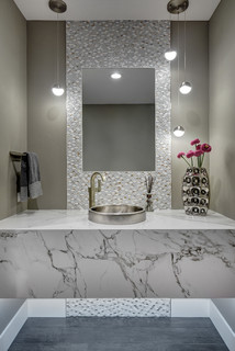 Sacramento Chic Entertainer Contemporary Powder Room