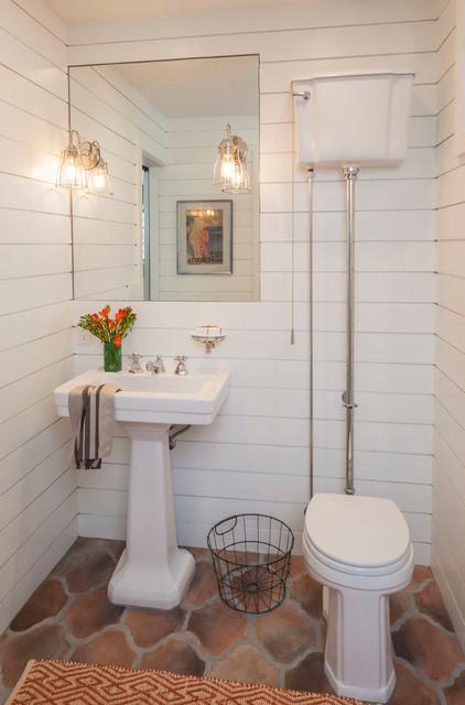 Mediterranean Powder Room By Lisa Berman Design