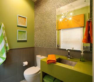 San marco family home contemporary powder room Interior designers jacksonville florida