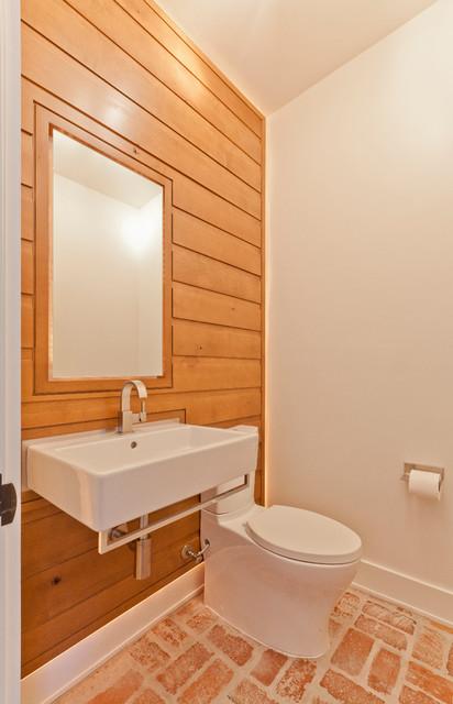 Scandinavian Rustic Cabin Scandinavian Powder Room  : scandinavian powder room from www.houzz.com size 412 x 640 jpeg 65kB