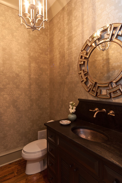 Shady Grove Powder Room eclectic powder room