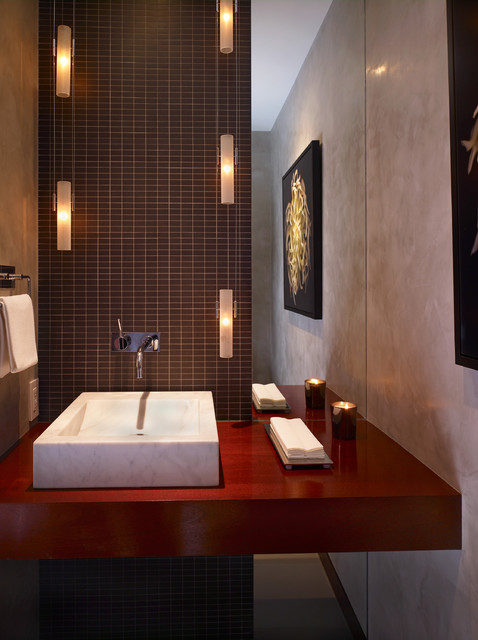 Shimmon Residence contemporary-powder-room