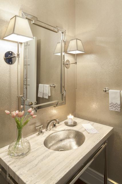 Rye, NY Home transitional-powder-room
