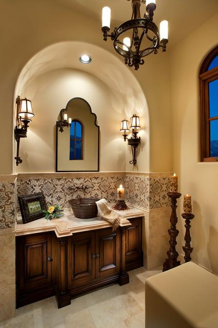 Powder Bathroom - Mediterranean - Powder Room - other ...